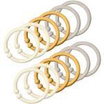 Bibs Upphängningsringar/Loops - 12-pack - Ivory/Honey Bee/Sand