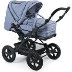 CHIC 4 BABY – kombibarnvagn vibration, inklusive bärväska Ljusblå
