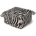 Classic Collection Zebra sittpuff svart/vit