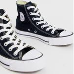 Converse – Chuck Taylor All Star Hi – Svarta sneakers