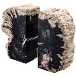Eichholtz Opia bokstöd svart/brun 2-set
