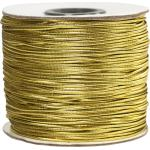 Elastiskt snöre 1mm 100m guld