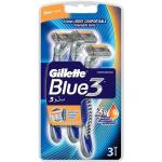 Gillette Blue3 Disposable Razors 3 Pack 3 st Engångsrakhyvlar