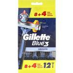 Gillette Blue3 Engångshyvlar 12 st Engångsrakhyvlar