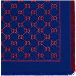 Gucci Kids logotypmönstrad sjal - Blå