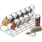 KitchenCraft Kryddställ för 12 Stycken, Silver
