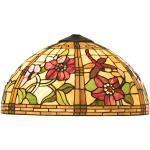 LumiLamp 5LL-9933 Tiffany stil lampskärm Ca. Ø 40 cm dekorativ buntglas handgjord glasskärm