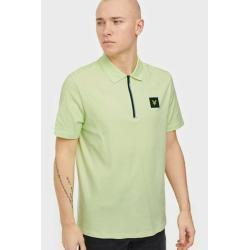 Lyle & Scott Zip Detail Polo Shirt Piké Green