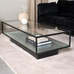 Maglehem soffbord glas/svart