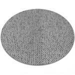 Matta, runda CASABLANCA grå cirkel 100 cm