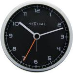 NEXTIME Company Alarm Väckarklocka Ø9cm Svart/metall