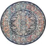 Ø 150 Orientalisk Matta Elnath Rund Ljusgrå/Mörkgrå