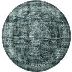 Ø 300 Orientalisk Matta Jacinda Vintage Rund Turkosblå/Blå Stor