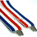 Röd, vit & blårandiga hängslen