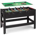 Spin 2-i-1 spelbord biljard fotboll 180° vridbar speltillbehör svart