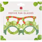 Talande bord paket med 5 julpapper gror nyhet glasögon – idealisk fotobooth rekvisita för jul selfies