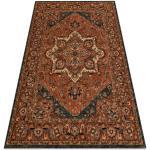 Ullmatta KASHQAI 4354 501 rosett, orientalisk terracotta 67x130 cm