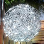 Utomhusdekorbelysning LED-solar Alu-Wireball