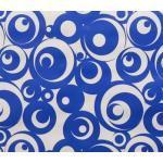 Vaxduk - Rulle med 10 meter - Blå Cirklar
