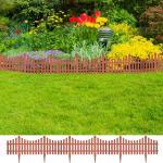 vidaXL Trädgårdskanter 17 st 10 m brun