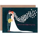 Wee Blue Coo Hälsningar kort födelsedag gåva bröllop äkta kärlek smörflyger