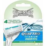 Wilkinson Sword Quattro Titanium Sensitive Razor Blades 4 st Rakblad